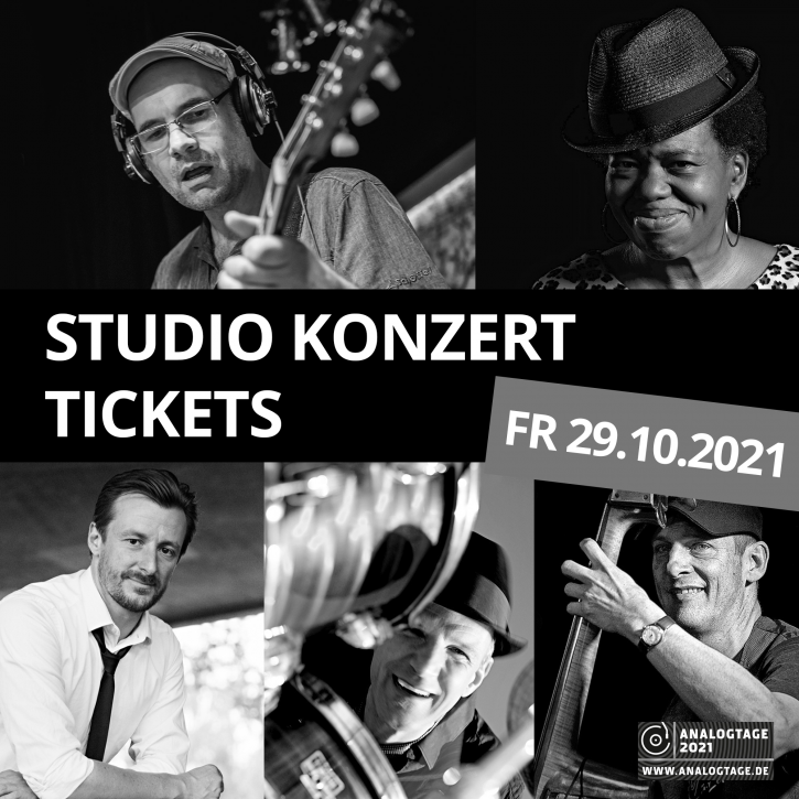 Studio Konzert Ticket - Jens Filser ORGANIC BLUES PROJECT mit Special Guest Brenda Boykin - 29. Oktober 2021 - 19:00 Uhr